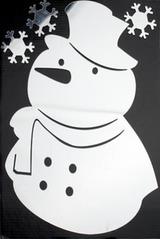 Набор аппликаций Снеговик