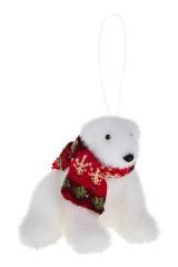 Украшение для интерьера Белый мишка с шарфиком