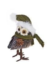 Украшение для интерьера Совушка в шапочке и шарфике
