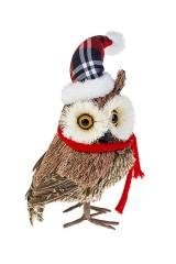 Украшение для интерьера Сова в шапке и шарфике