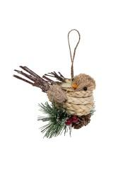 Украшение декоративное Птенчик на еловой веточке