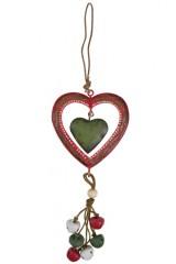 Украшение декоративное Сердце с колокольчиками