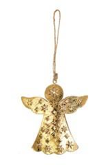 Украшение декоративное Ангел со снежинками