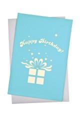 Открытка подарочная с объемными картинками Подарок