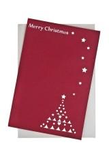 Открытка подарочная с объемными картинками новогодняя Рождество