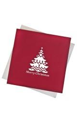 Открытка подарочная с объемными картинками новогодняя Елочка