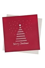 Открытка подарочная с объемными картинками новогодняя Пушистая елочка