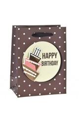 Пакет подарочный Праздничный тортик