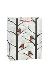 Пакет подарочный новогодний Снегири