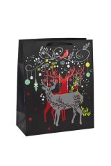 Пакет подарочный новогодний Благородные олени