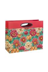 Пакет подарочный Яркие цветы