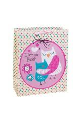 Пакет подарочный Влюбленные совушки