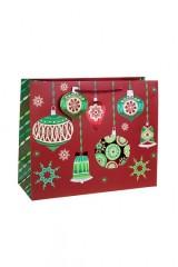 Пакет подарочный новогодний Елочные шары