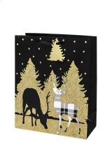 Пакет подарочный новогодний Волшебные олени