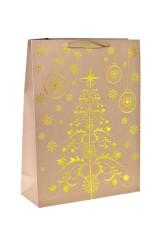 Пакет подарочный новогодний Золотая елочка