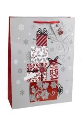 Пакет подарочный новогодний Праздничные подарки
