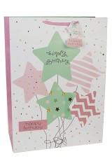 Пакет подарочный Летящие звезды