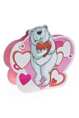 Пакет подарочный Мишка с сердцем