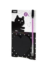 Мемо-стикеры Черный котик