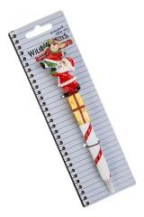Ручка шариковая Дед Мороз с оленем