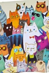 Подставка для ноутбука с подушкой Разноцветные коты