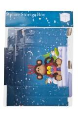 Коробка подарочная новогодняя Норвежская обезьянка с подарком