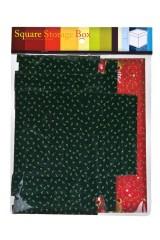 Коробка подарочная новогодняя Плюшевые мишки с елочками