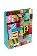 Пакет подарочный Яркий день рождения