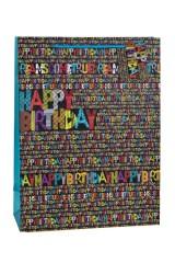 Пакет подарочный Яркие буквы