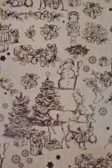 Бумага упаковочная новогодняя Ретро