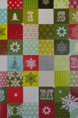 Бумага упаковочная новогодняя Пушистые елочки