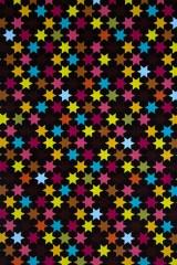 Бумага упаковочная Неоновые звезды