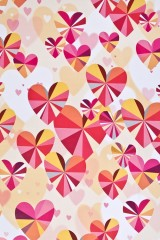 Бумага упаковочная Кристальные сердца