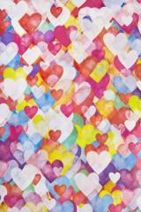 Бумага упаковочная Акварельные сердца - 2