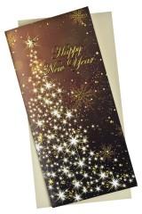 Открытка подарочная новогодняя Елочка из звезд