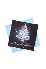 Открытка подарочная новогодняя Искрящаяся елочка