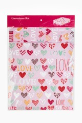 Коробка подарочная Цветные сердца