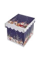 Коробка подарочная новогодняя Северные друзья