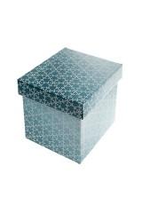 Коробка подарочная новогодняя Хоровод снежинок