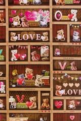 Бумага упаковочная С любовью