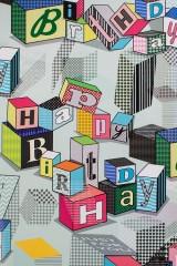 Бумага упаковочная Поздравительные кубики