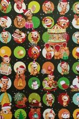 Бумага упаковочная новогодняя Веселые медвежата