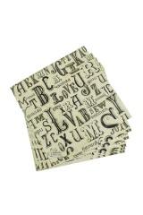Набор салфеток для декупажа Буквы