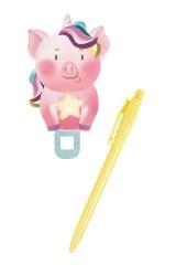 Ручка шариковая Свинка со звездой