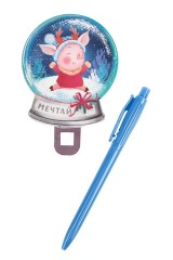 Ручка шариковая Снежный шар. Мечтай