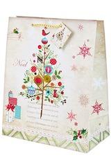 Пакет подарочный новогодний Праздничная красавица