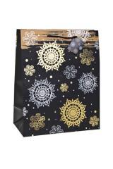 Пакет подарочный новогодний Ночной снегопад