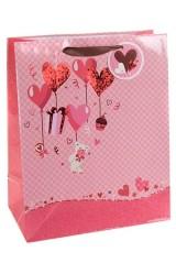 Пакет подарочный Мишка и сердца