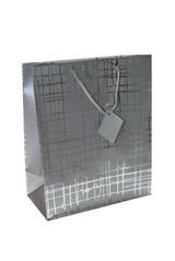 Пакет подарочный Серебряная сеть