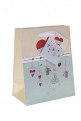 Пакет подарочный Сердечки на подвесках